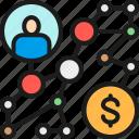 algorithm, business, color, plan, strategy, success, way icon