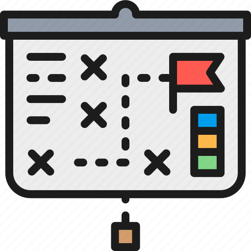 business, chart, color, presentation, projector, screen, strategy icon