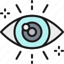 attentive, business, color, eye, look, looking, strategy icon