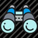 binocular, business, color, explorer, management, portfolio, strategy icon
