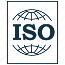certificate, document, iso, iso 9000, iso 9001, iso certificate, quality icon
