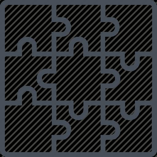 creative, idea, jigsaw, puzzle, solution icon