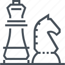 chess, game, horse, knight, leader, strategy, win icon