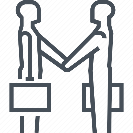 agreement, businessman, handshake, partnership, service icon