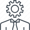 development, efficiency, gear, improvement, productivity, work icon
