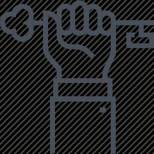 businessman, idea, key person, office, success, unlock, worker icon