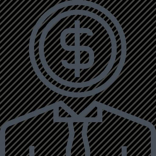 dolar, empoyee, money, pay, wage icon