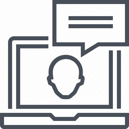 bubble, computer, consulting, hot line, online conferance, service, support icon