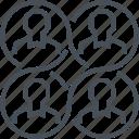 collaborative, network, relationship, economy icon
