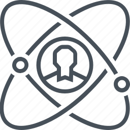 atom, development, employee, personal, science, worker icon