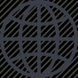 business, finance, globe, money, world icon