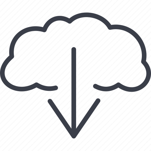 arrow, business, cloud, download icon