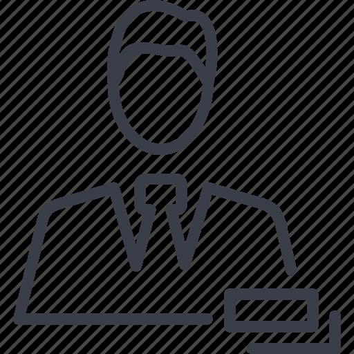 avatar, business, businessman, man icon