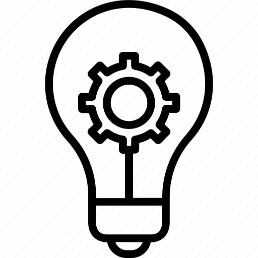 creativity processing, idea management, innovation, inspiring idea icon