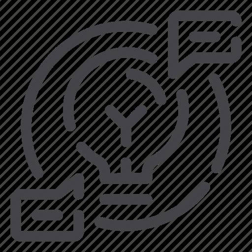 Knowledge, creativity, creative, idea, light bulb icon - Download on Iconfinder