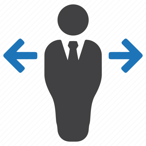arrow, business, businessman, decision, planning, strategy icon