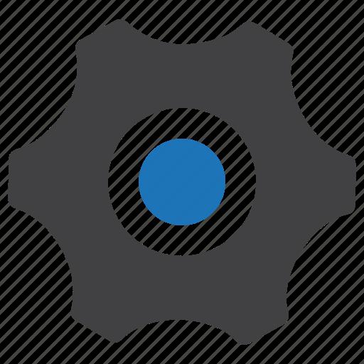 cog, gear, settings, sprocket icon