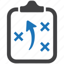 clipboard, management, notepad, plan, planning, strategy, tactics icon