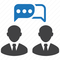 businessman, chat, communicating, communication, connection, contact, discussion icon