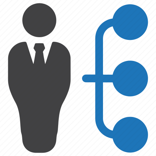 business, businessman, hierarchy, management, organization, planning, structure icon