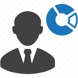 business, businessman, chart, graph, marketing, pie chart, presentation icon