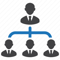 business, coworkers, hierarchy, leader, structure, team, team building icon