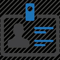 badge, card, id, id card, identity, identity card, identity document icon