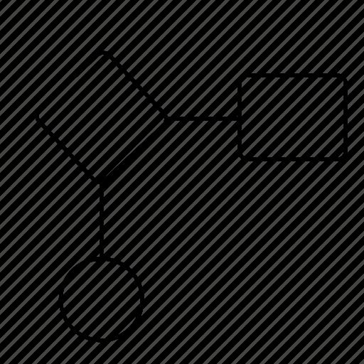 chart, code, diagram, flowchart, flows, programming, wireframes icon