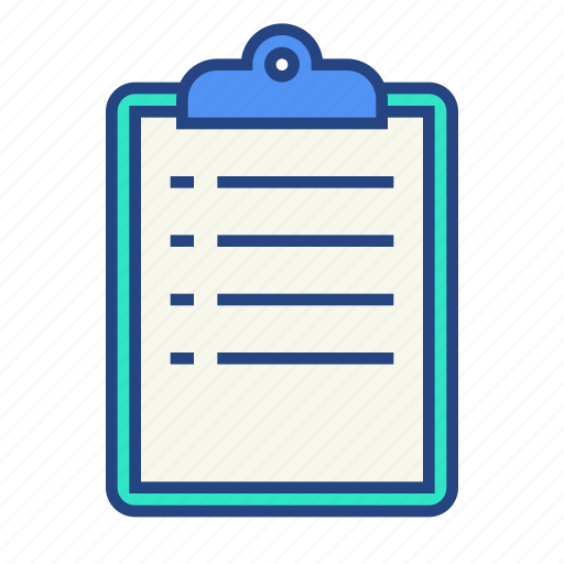 clipboard, document, list, office, paper, todo icon