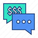 bubble, budget, communication, message, talk icon