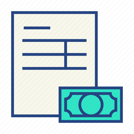 invoice, payment icon