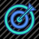 bullseye, focus, goal, target icon