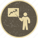 analysis, lecture, presentation icon