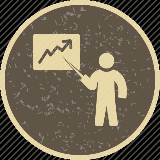 analysis, lecture, presentation icon