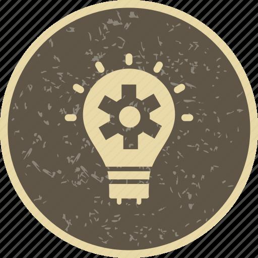 bulb, plan, strategy icon