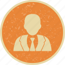avatar, businessman, person, profile icon