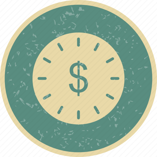 clock, time, time is money icon