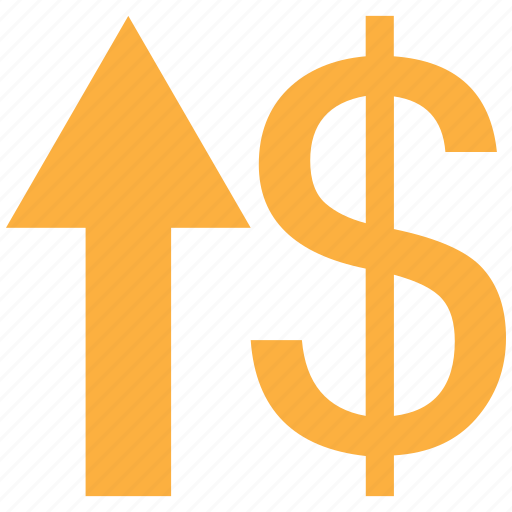 dollar, down, up, value icon