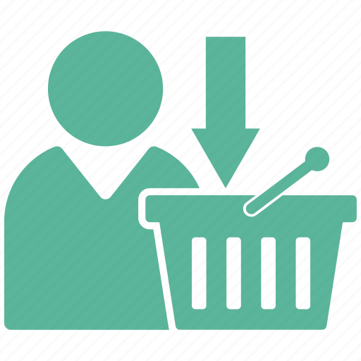 basket, download, ecommerce icon
