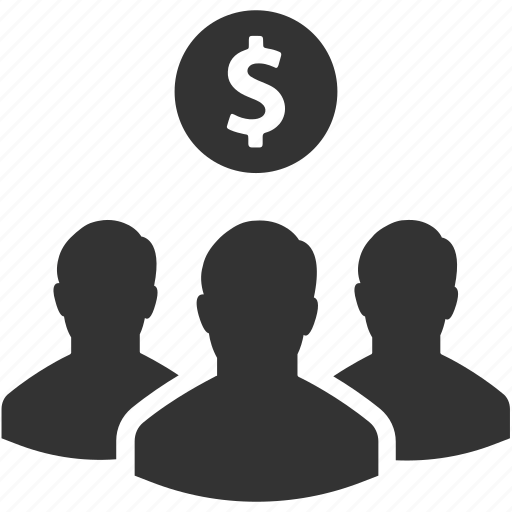 currency, finance, group, invest, money, people, salesmen icon