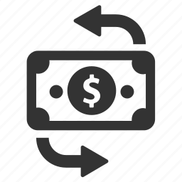 cash, conversion, currency, finance, money, move, swap icon