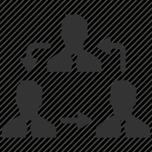 businessmen, human resources, move, organization, rearrange, structure, swap icon