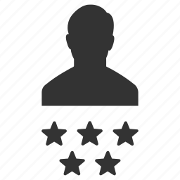 badges, man, person, ratings, stars, users, votes icon