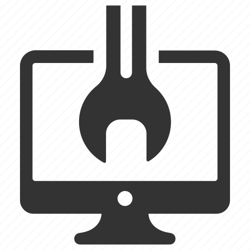 computer, device, fix, pc, repair, tool, wrench icon