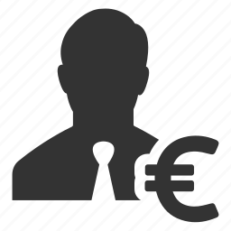 currency, earnings, euro, finance, income, money, salesman icon