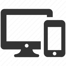 computer, connection, connectivity, devices, pc, smartphone, technology icon