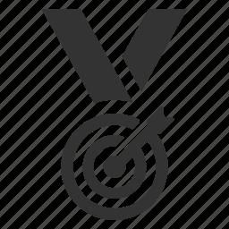 arrow, center, goal, medal, reward, success, target icon