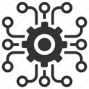 cog, encrypted, encryption, optimization, options, process, settings icon