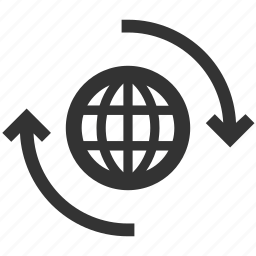 earth, global, globe, move, rotate, web, website icon