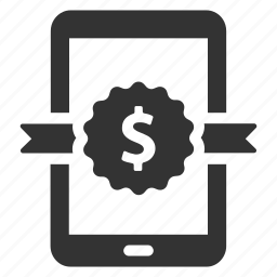 device, finance, money, premium, quality, sale, tablet icon